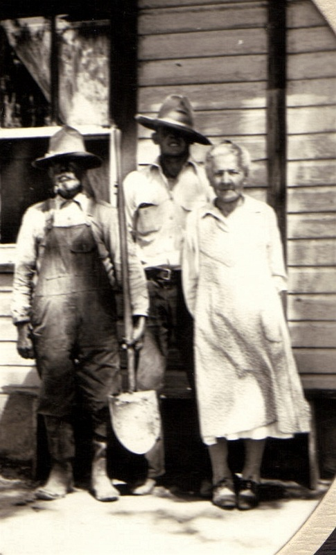 Adam and Maggie Keiser with son Adam about 1925 in Billings, Montana