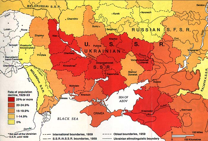 Famine Map 1930s