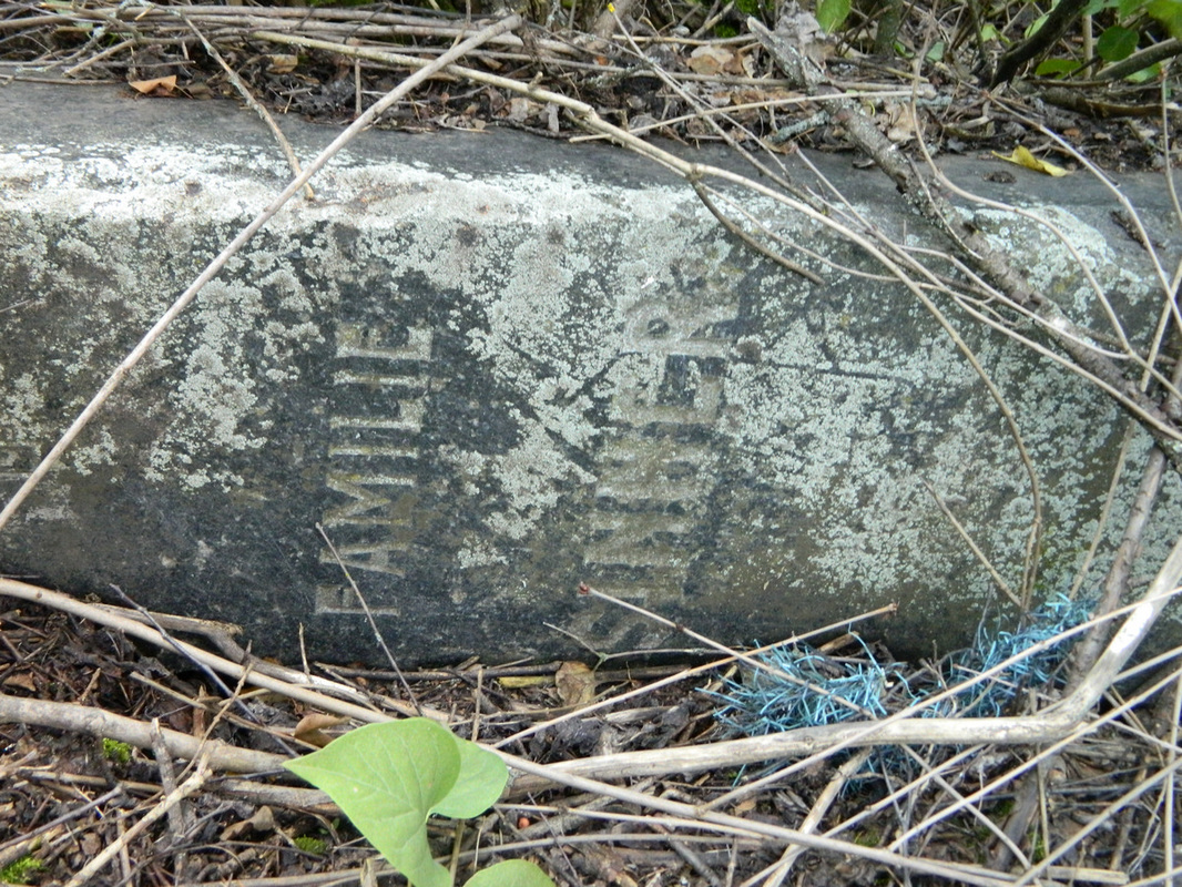 Grave marker for a Sinner family found near the old cemetery in Norka.