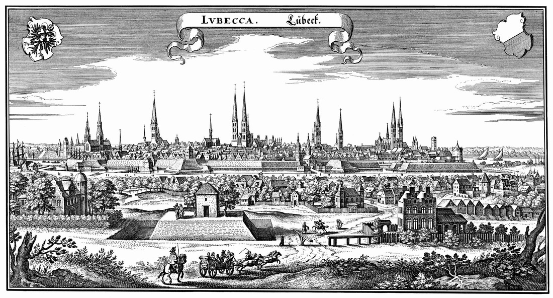 Drawing of Lübeck