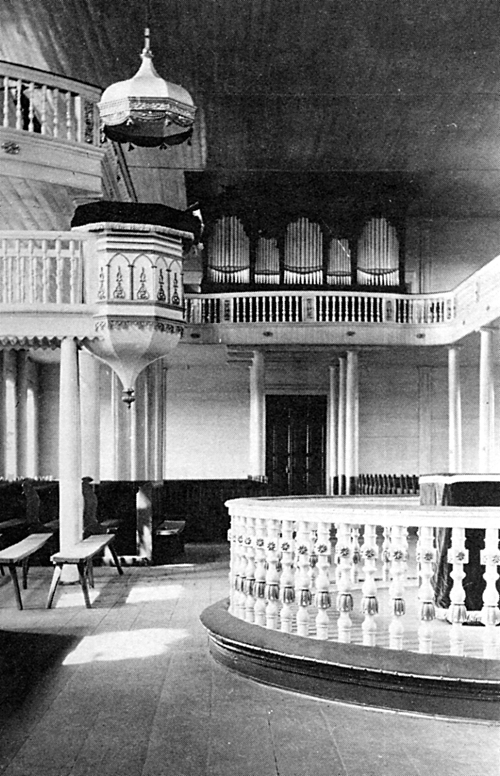 Interior of Norka Church in 1912