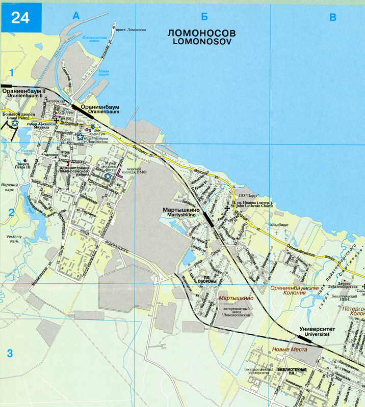 Map of Lomonosov