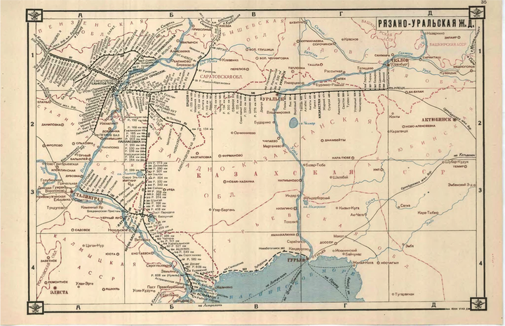 Map of Soviet rail system