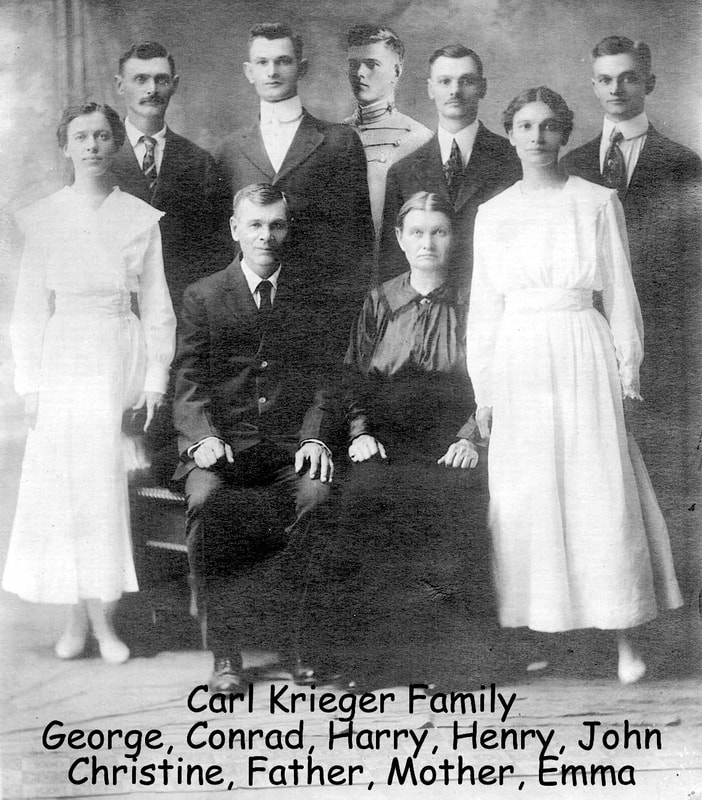 Carl Krieger family about 1918.