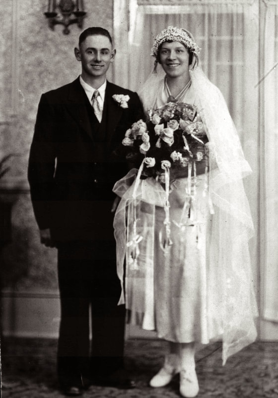 Emmanuel and Katherine Schnell on their wedding day.