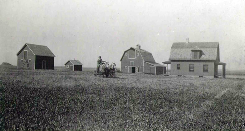 John Dick at his farm, located at what is now the Jim Dick farm in North Dakota.