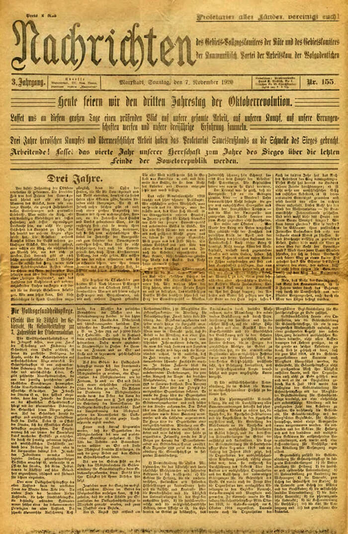 The November 7, 1920 edition of